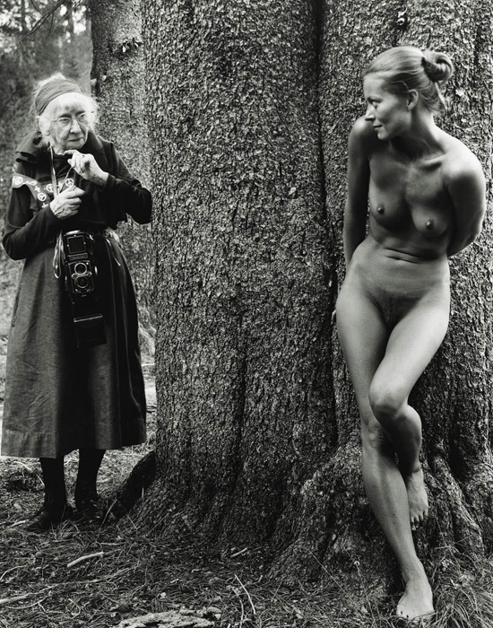 Imogen Cunningham and Twinka Thiebaud by Judy-Dater 1974
