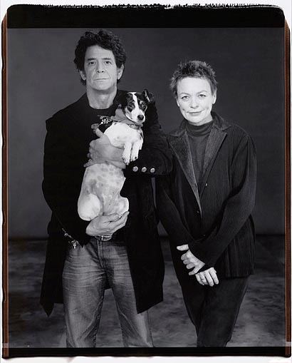 "Mary Ellen Mark © Polaroid 20x24""Lou Reed and Laurie Anderson"