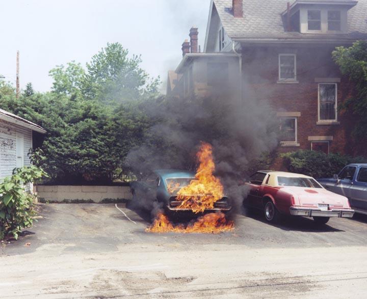 Joachim Brohm @ Ohio1983/84 Car on fire