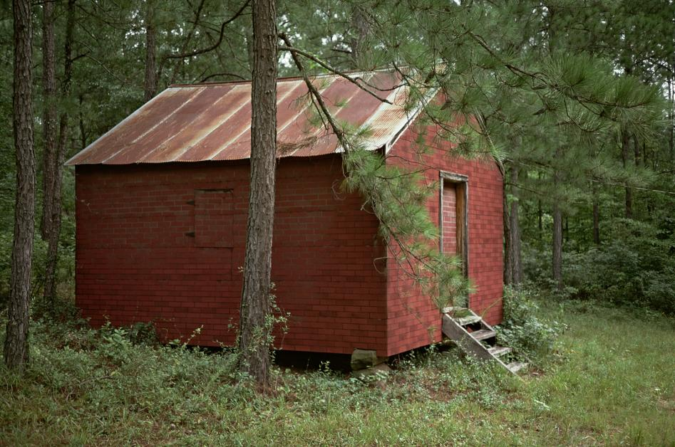 WILLIAM CHRISTENBERRY © 1984 Side of Red Building in Forest, Hale Co., Alabama,