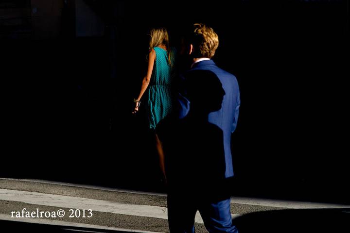 Rafael Roa © 2013 Shadow in a blue suit