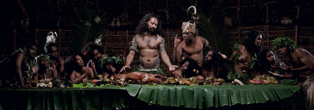 Greg Semu © 2010 The Last Cannibal Supper… cause tomorrow we become Christians, 2010.